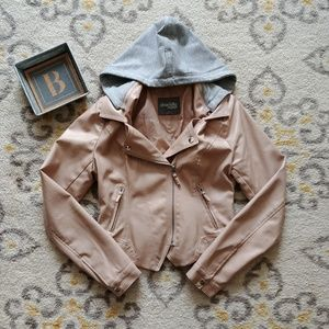 """Charlotte Russe """"Leather"""" Cropped Jacket"""